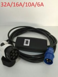 Justerbar 32A-6A EVI Ladekabel med Type 2 (Mennekes) og LED-skjerm