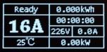 Justerbar 16A-6A EVI Ladekabel med Type 2 (Mennekes) og LED-skjerm.